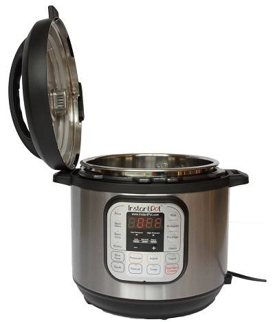 Instant Pot DUO80 8 Qt 7-in-1 Multi- Use Programmable Pressure Cooker opened.