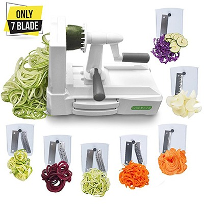spiralizer 7 blade vegetable slicer